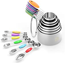 Measuring Cups Spoons Set - Wildone Stainless Steel Cups and Magnetic Measuring Spoons Set of 13, for Dry and Liquid Ingre...