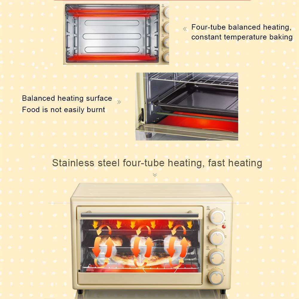 L.TSA Horno eléctrico autónomo Manual de Cocina, Horno de Pizza Multifuncional de Gran Capacidad de 30L, operación Simple de la Perilla, temporización de 60 Minutos, manija Anti-Calor de Acero ino: Amazon.es: Deportes