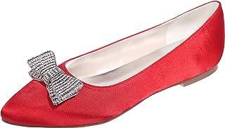 Para esSatén MujerY Bailarinas Zapatos Amazon 5AL34jR