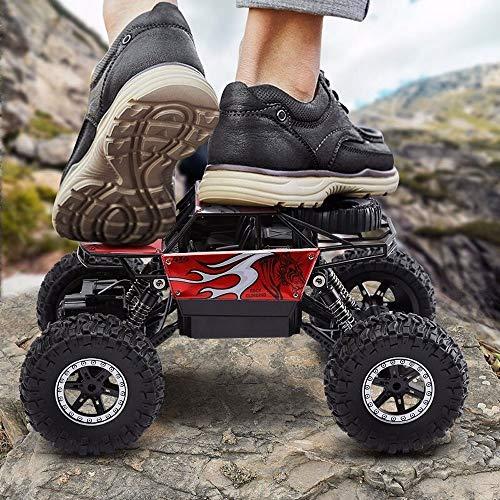 PETRLOY USB de charge RC voiture tout-terrain haute vitesse Off Road télécommande de voiture 4 × 4 4 roues motrices 40 kmh Radio 2.4GHz contrôlée Sport Monster Truck Racing avec suspension indépendant