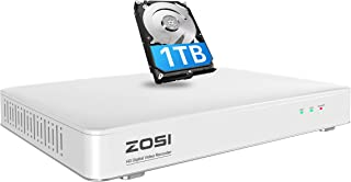 ZOSI H.265+ 5MP Lite 8 Channel Security DVR Recorder with 1TB Hard Drive,8CH Hybrid 4-in-1 CCTV DVR for 960H 720P 1080P Ho...