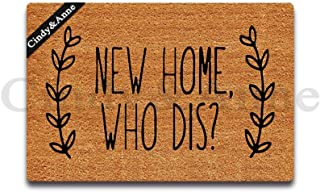 Tdou New Home Who Dis? Personality Doormat Custom Home Living Decor Housewares Rugs and Mats State Indoor Gift Ideas 23.6 by 15.7 Inch