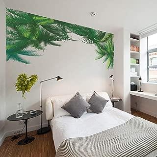 ☀ Dergo ☀NEW Green Leaf Wall Sticker Background Living Room Art Home Decor Household