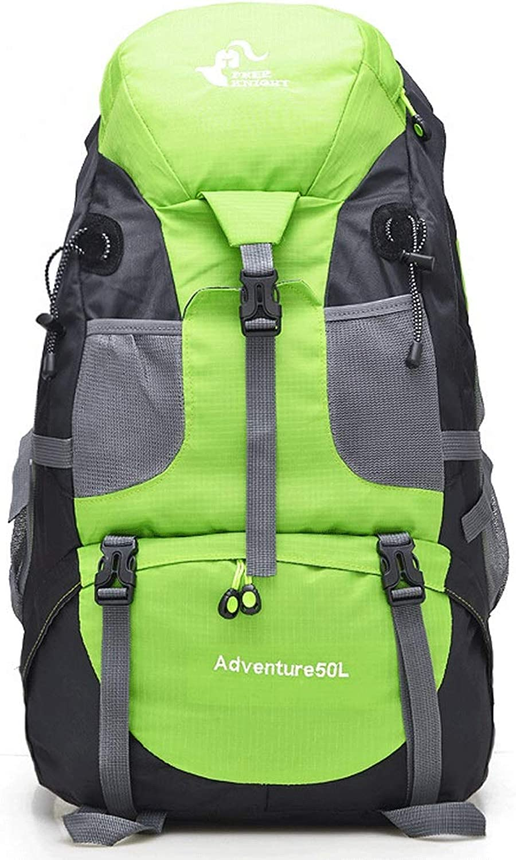Outdoor Sports Backpack Travel Shoulder Bag Mountaineering Bag 50L Backpack 56  23  36cm (color   Green, Size   56  23  36cm)