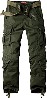 Mens Cargo Work Casual Pants, BDU Tactica Camo Military Army Black Wild Combat Pants for Men