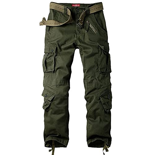 80c16f24a2 Jessie Kidden Men's BDU Casual Military Pants, Cotton Camo Tactical Wild Combat  Cargo ACU Rip