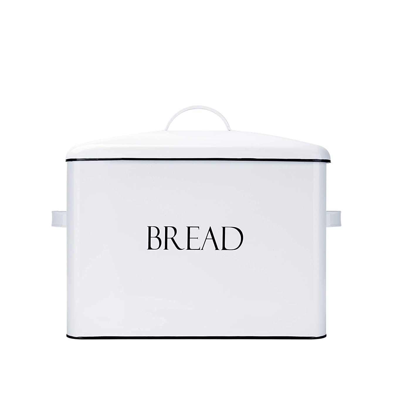 Outshine Vintage Metal Bread Bin - Countertop Space-Saving, Extra Large, High Capacity Bread Storage Box for your Kitchen - Holds 2+ Loaves 13