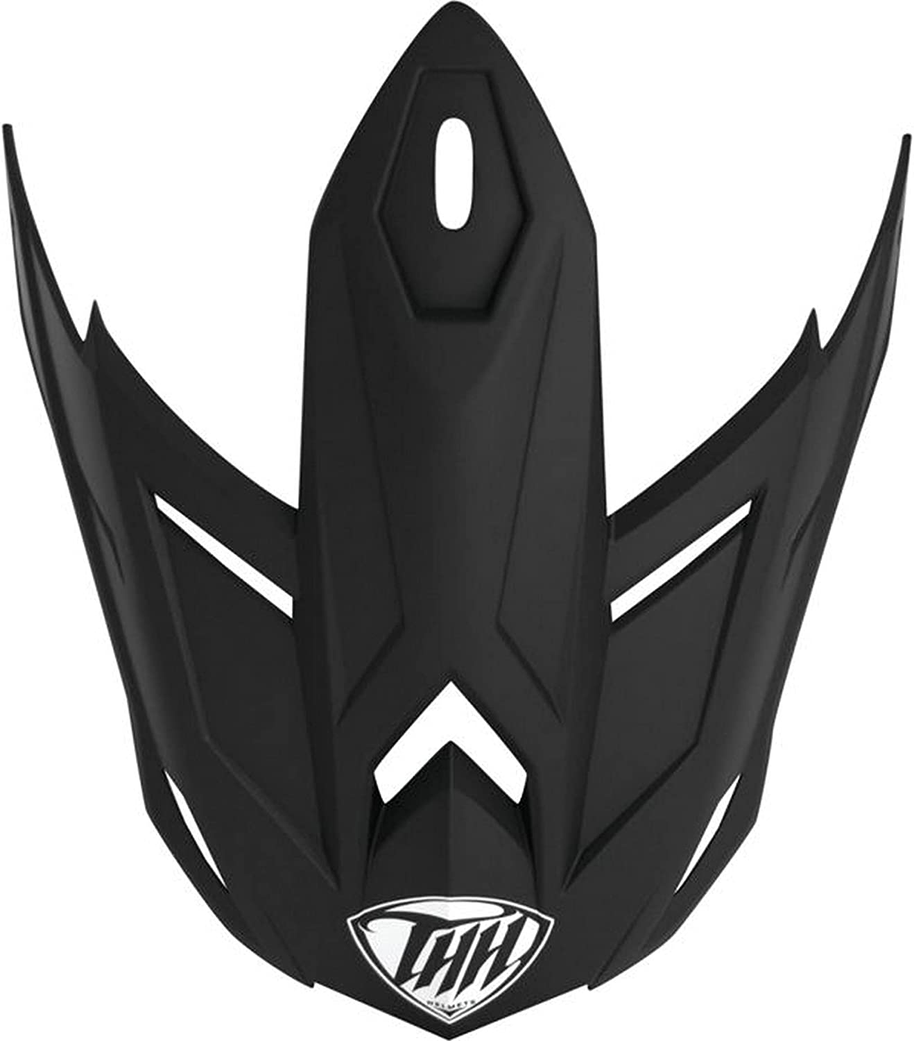 THH T-710X Solid Youth Rare Helmet Replacement Peak Flat Industry No. 1 Visor Black