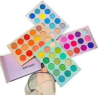 60 Colors Eyeshadow Palette, 4 in1 Color Board Makeup Palette Set Highly Pigmented Glitter...