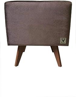 Puff Pé Palito Quadrado Alce Couch Grafiato Plus Cinza 40cm