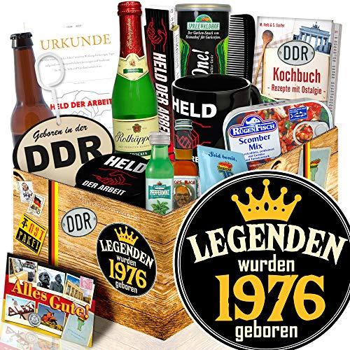 Legenden 1976 / Geburtstagsgeschenk 1976 / DDR Geschenkbox Mann