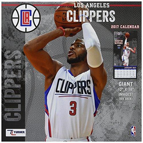 "Turner Licensing Sport 2017 Los Angeles Clippers Team Wall Calendar, 12""X12"" (17998011881)"