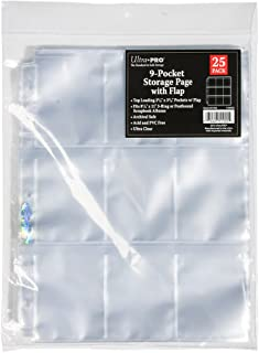 Ultra PRO 9-Pocket Storage Page with Secure Flap 25ct. Pack for 8.5'' x 11'' Album