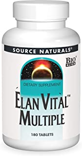 Source Naturals Elan Vital Multiple - Supports Brain, Heart, Liver, Immune, Energy Boost - 180 Tablets