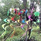 Cold Toy 5pcs Animales de espiral de molino de viento colorido de viento Spinner de césped de jardín de Yard de al aire libre Decoración Nuevo