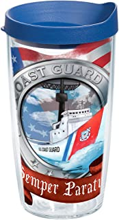 Tervis 1185741 Coast Guard - Boat Insulated Tumbler with Wrap and Blue Lid 16oz Clear