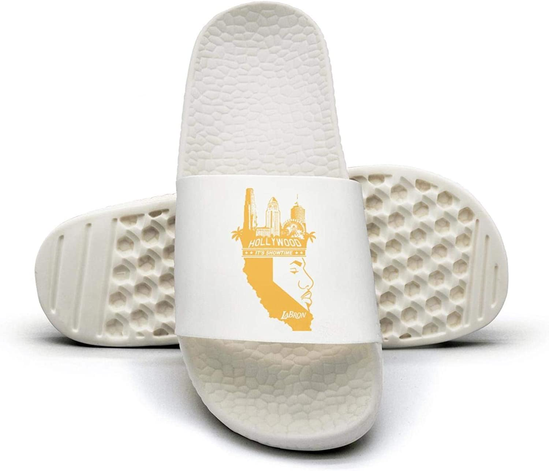 ADIDII Womens Printed Non-Slip Slipper Slides flip Flop Sandals Yellow_Basketball_23_Crown_Kings_LA Summer Outdoors
