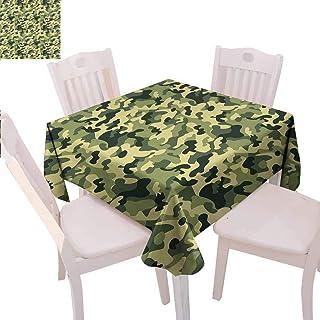 VICWOWONE Nappe carrée en Forme de crâne et os croisés Motif Grunge Vieilli Vert foncé Kaki Crème 70 x 70 inch Couleur 13