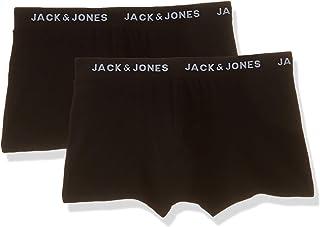 JACK & JONES Mens 2P Jacjon Boxer Short Underwears, Color: Black, Size: M