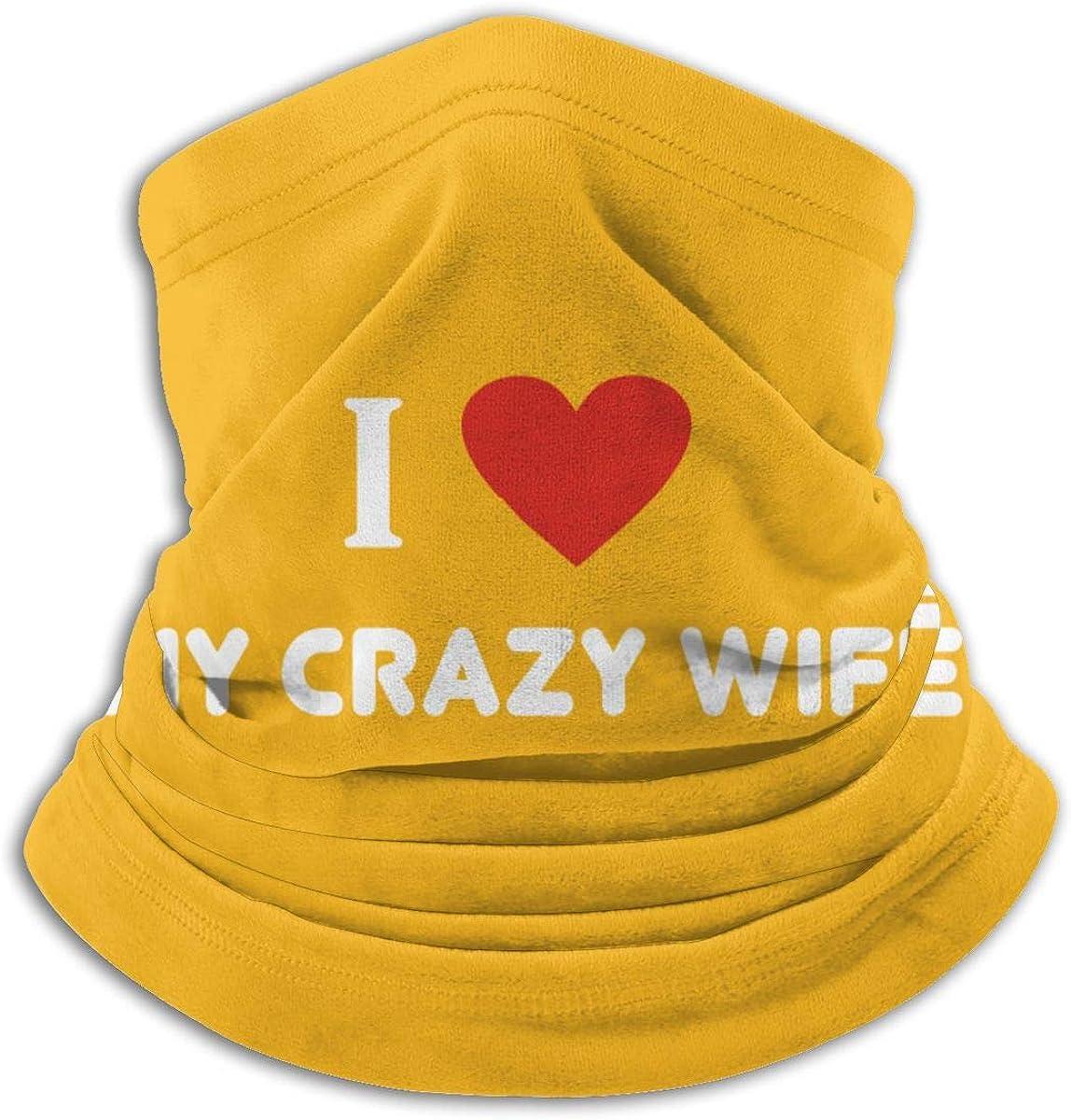 Wife Appreciation Day Black Multi-function Neck Warmer Gaiter Polyester Neck Warmer Windproof Winter Neck Gaiter Cold Weather Scarf For Men Women