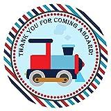 Adorebynat Party Decorations - EU El tren le agradece pegatina etiqueta - Niños muchacho de los niños Cumpleaños Baby Shower Fiesta - Set 30