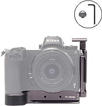 YC Onion L Bracket/L Placa/L Soporte para Nikon Z6/Z7 con Placa Arca Swiss de Liberación Rápida Zapata Fría Llave Hexagonal Moneda en Y, Plata