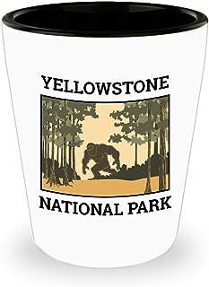 Yellowstone National Park Shot Glass Sasquatch Bigfoot Camping Gift Idea