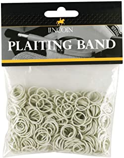 Battles Equine 425-0219 Lincoln Plaiting Bands (White),1 Pack