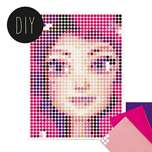 dot on Mia DIY Poster - 30 x 40 cm – Bastelset für Kinder - Bilder mit Klebepunkten - Stickerset Mosaik Set - Aufkleber Basteln Selbermachen DIY - Mia and Me