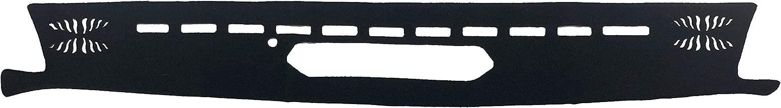 AutofitPro Custom Fit Dashboard Black Center Console Cover Dash Mat Protector Sunshield Cover for 2018 2019 2020 Jeep Wrangler (JL)