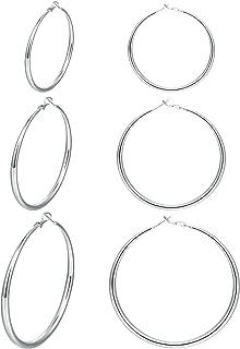 Best sterling silver earrings hoops Reviews