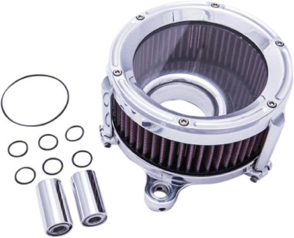 Trask Performance Assault Charge High-Flow Air Cleaner - Chrome