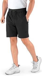 Athletics Men's Shorts (Hydrafit) Quick Dry Active Shorts Fitness Sports Performance Training with Zipper Pockets (CA0008-XLB) Black