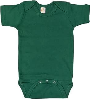 Baby Unisex Plain Blank Solid Cotton Short Sleeve Infant Bodysuit Onesie (6-12M, Kelly Green)