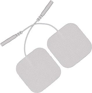 Electrodos Recambio Masajeador Autoadhesivos Home - Electrodos Cervicales Facial Gluteos Hombro Manos Rodilla, Self Adhesive Electrodes Masaje Gel Conductor Adhesivos Gelificados40pcs (2.0mm)