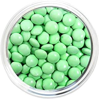 Candy Coated Chocolate Gems - Pastel Green (2.5 lb bag)
