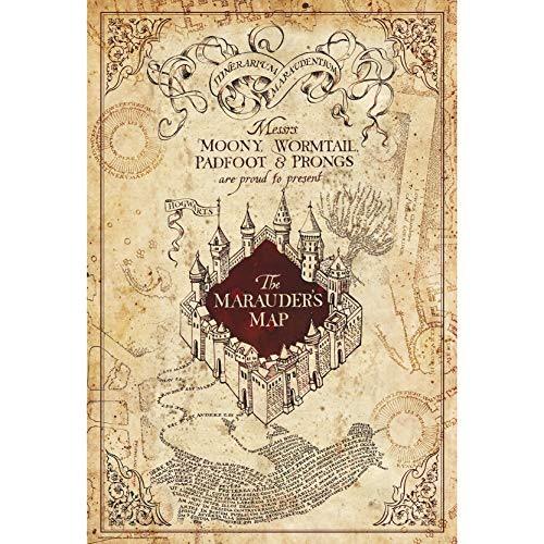 ABYstyle - Harry Potter - Poster - Mappa del Malandrino (91.5x61)