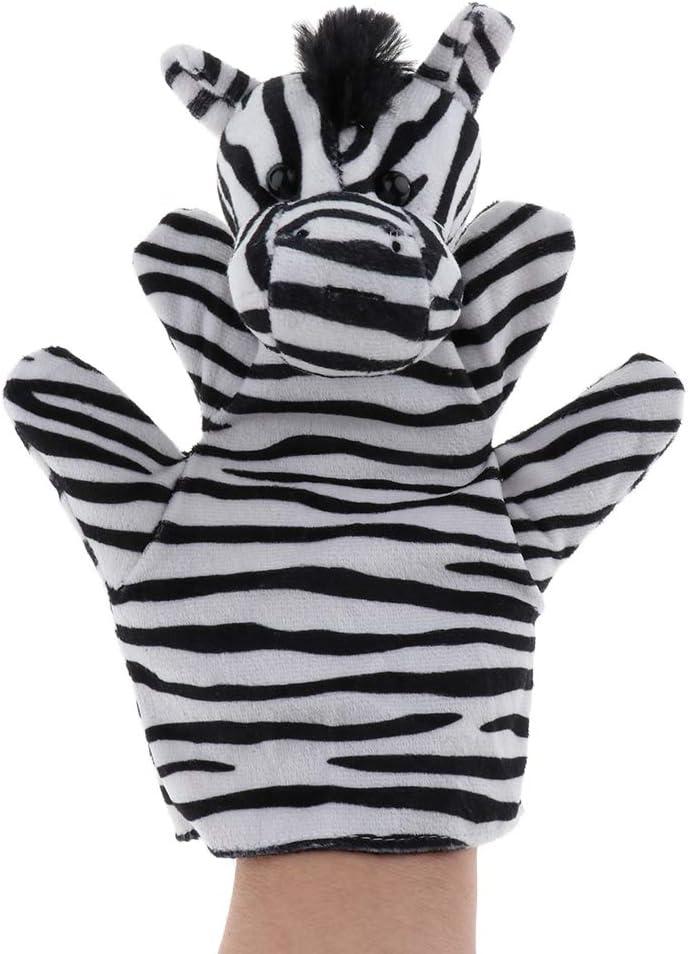 B Blesiya Marioneta de Mano Guante de Animales de Selva Africana de Peluche Juego de Imaginaci/ón Fantas/ía para Ni/ños Cebra
