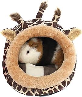 PETAMANIM Caldo Criceto Nido cavie Letto Leggero Inverno Nido Ratto cincillà Piccolo Animale Domestico Animali Letto,Giraffe