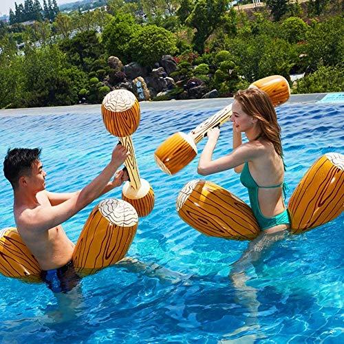 CZYNB Alta qualità Pool Toys Set 2 Pezzi gonfiabili galleggianti Fila Giocattoli, Adulti Bambini Pool Party Sport Acquatici Giochi registro Zattere a galleggiare Giocattoli