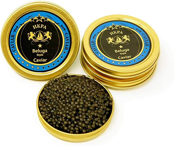 Caviale beluga ibrido (caviale di storione) (2 oncia (56g))  kaviar discount B07MLS3BRN