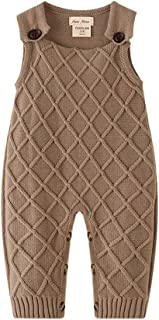 Auro Mesa Newborn Baby Knit Overalls Romper, Toddler Little boy Photography Outfits 3 6 9 12 18 Month Boys Clothes