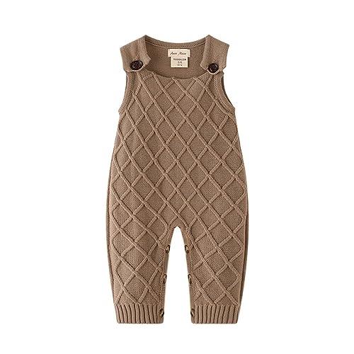 49fbea63f45 Auro Mesa Newborn Baby Knit Overalls Romper