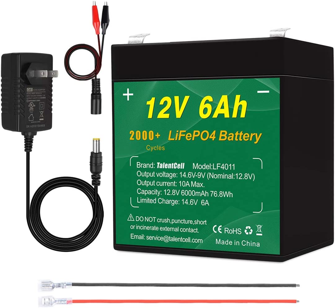 TalentCell Max 70% OFF 12V 6Ah LiFePO4 Battery Pack Rechargeabl Cycles Popular product 2000