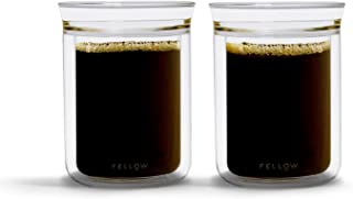 Fellow Stagg Tasting Glasses for Coffee and Tea (Set of two), 10 oz, Handblown Borosilicate Glass, Single-To-Double Wall For Easy Drinking and Heat Retention
