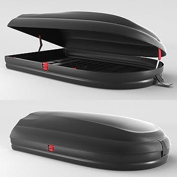 Junior Box da Tetto per Auto Econbox Nero Carbonio 420 145x94x42cm 100/% Made in Italy 420 Litri
