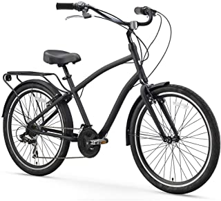 EVRYjourney Men's Hybrid Alloy Cruiser Bicycle and eBike