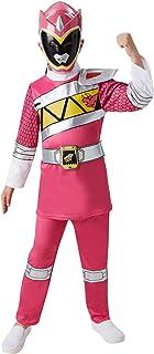 Rubies - Disfraz infantil oficial de Ranger Rosa de la serie Power Rangers Dino Charge, talla S