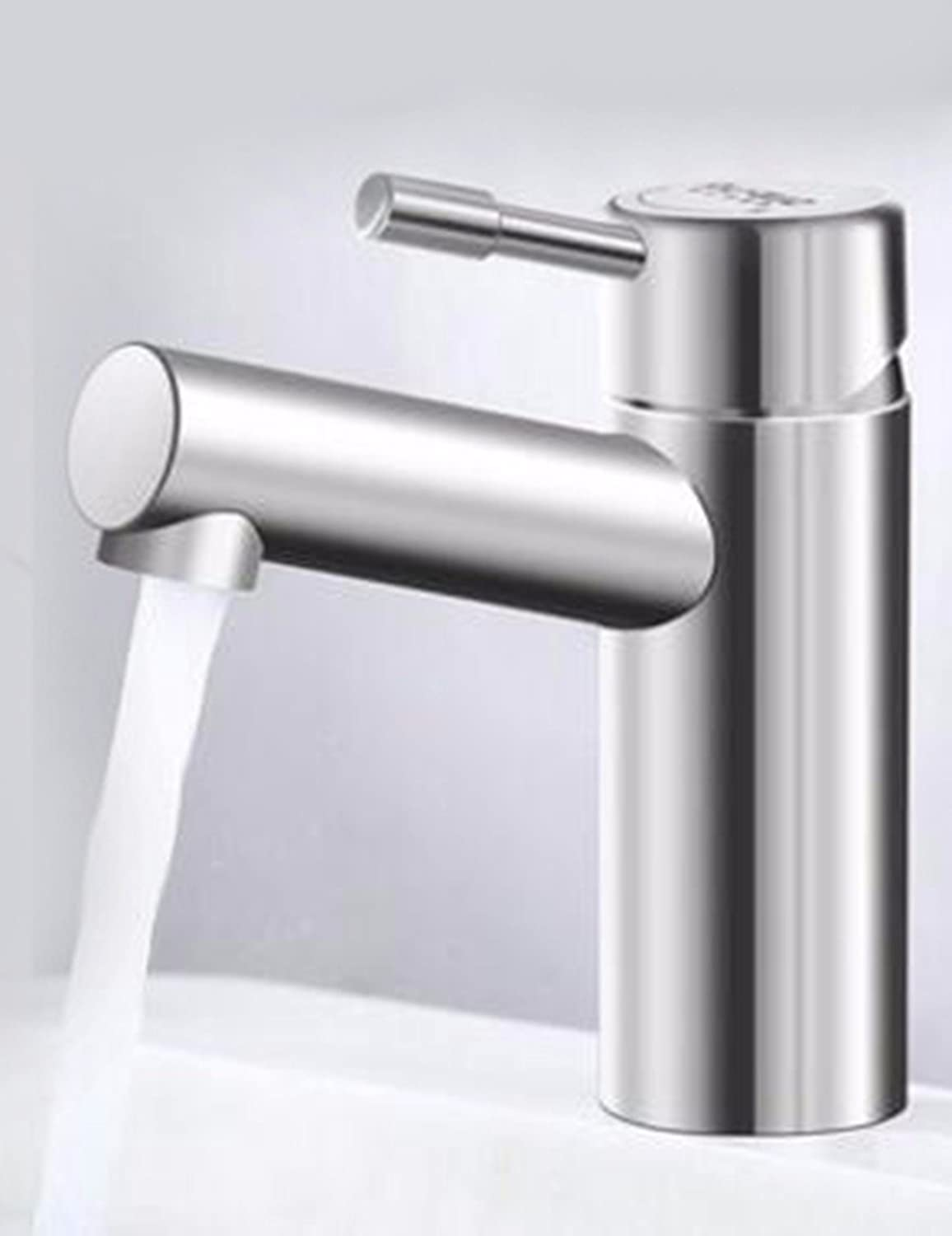 LHbox Basin Mixer Tap Bathroom Sink Faucet Lead-free 304 Stainless Steel Basin cold water tap on the tub basin, replacing taps