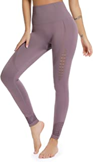 Women's High Waist Active Energy Leggings Slimming Seamless Compression Fit Pants Workout Tights Tummy Control